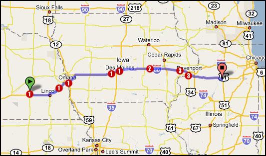 Map 4 York Ne To Peru Il